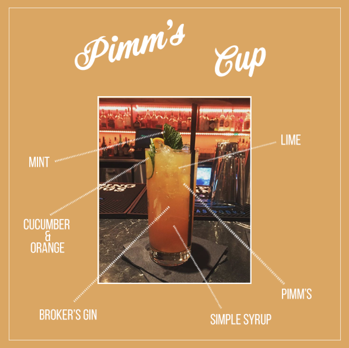 Anatomy of a Cocktail Featuring A Silo Terrace Oyster Bar Cocktail